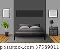 Modern interior bedroom 37589011