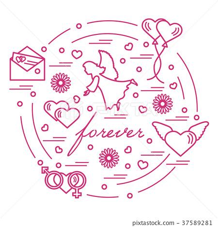 Different Love Symbols Stock Illustration 37589281 Pixta
