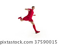 Professional football soccer player isolated on 37590015