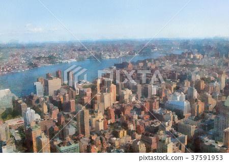 Skyscrapers of Manhattan. New York city 37591953