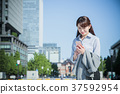 ธุรกิจหญิงผู้หญิงสำนักงานลำลอง 37592954