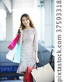 여자, 쇼핑, 쇼핑백 37593318