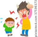 怒罵 父母和小孩 親子 37596373