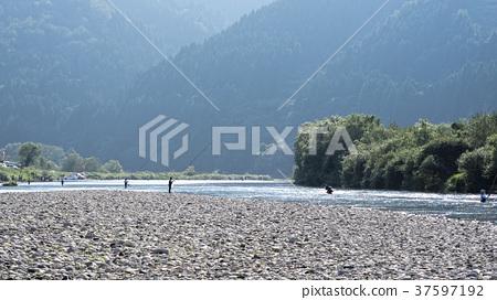 Ayu fishing landscape 37597192