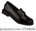 black woman shiny shoe isolated on white 37598082