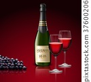 champagne bottle glass 37600206