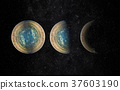 Universe scene with planets, stars and galaxies 37603190