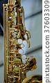 part of a saxophone close up 37603309