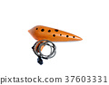 Classical ocarina, isolated on white background 37603331