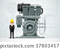 factory machinery vector 37603457