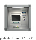 Atm machine on wall 37605313