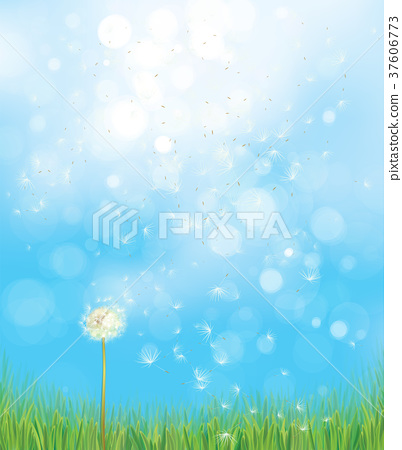 Vector spring  nature  background. 37606773