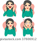 Woman Facial Emotion Expressions 37606912