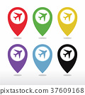 Aeroplane, Airplane, Airport, Landing Field icon 37609168
