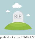 Grave flat design 37609172