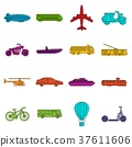 Transportation icons doodle set 37611606