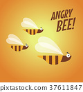 Angry bee flat design 37611847