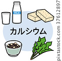 鈣 營養物質 礦物質 37612897