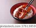鱔魚 一碗鰻魚飯 鰻魚飯 37613859
