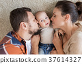 family, baby, kissing 37614327