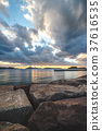 sunset blue water 37616535