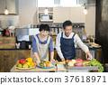 廚房 烹飪 夫婦 37618971
