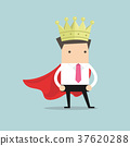Businessman wearing a crown 37620288