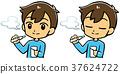 A man who smokes an electronic cigarette 37624722
