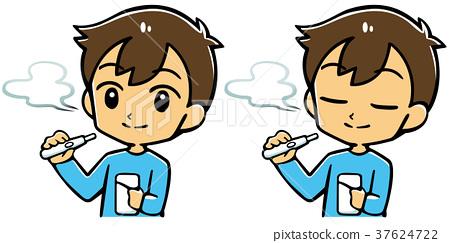 전자 담배를 피우는 남성 37624722
