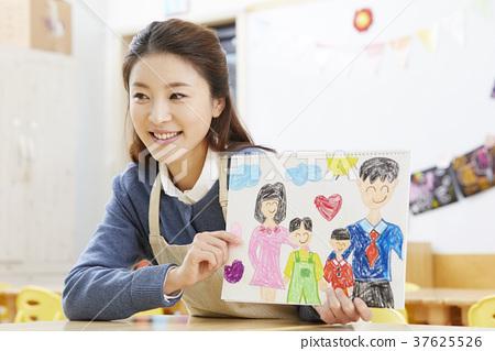 유치원,여자,선생님,한국인 37625526