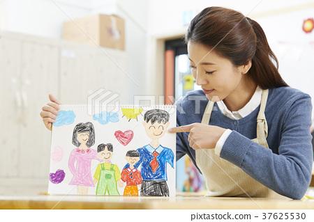 유치원,여자,선생님,한국인 37625530