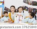 幼兒園,幼兒園,兒童,老師,韓語 37625840