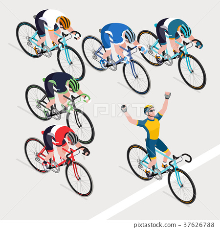 Man's cyclists in road bicycle got the winner 37626788