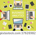 Flat design concepts for business analysis  37626982