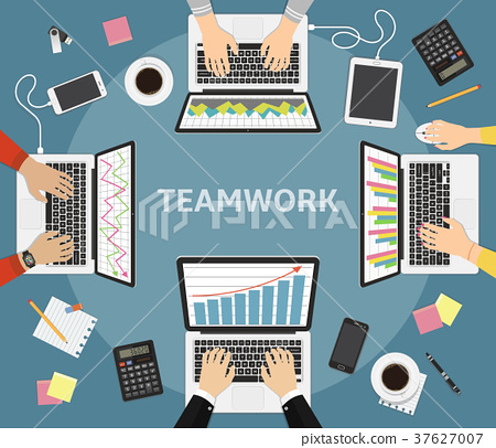 Business teamwork, business coworkers concept 37627007