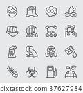 Pollution line icon 37627984
