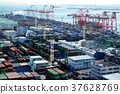 port and harbour, containerized, freight 37628769