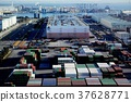 port and harbour, containerized, freight 37628771