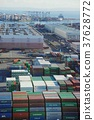 port and harbour, containerized, freight 37628772