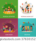 Kindergarten Concept Icons Set 37630152