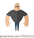 Large muscular man in a t-shirt, security guard 37633235