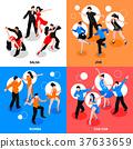 Dance Isometric People Concept 37633659