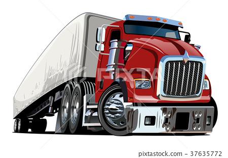 Cartoon semi trucktruck387 37635772