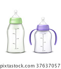 Vector baby bottles isolated on background 37637057