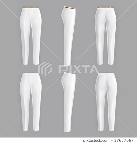 Vector realistic formal trousers for women 37637067