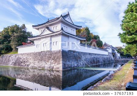 日本京都秋天Nijo城堡風景 37637193