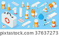 Big set of medical equipment and pharmacy. First 37637273