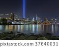 9/11 Tribute in Lights at Brooklyn Bridge 37640031