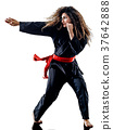 woman Kung Fu Pencak Silat isolated 37642888