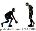 soccer players goalkeeper men isolated silhouette 37642900